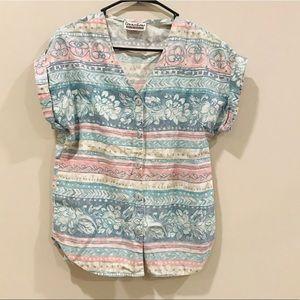 Vintage Aztec Multicolored Western Retro Shirt